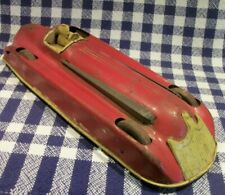 "RARE Antique 1930's 12"" Tin Litho Stream Line RACE CAR Racer Buffalo, Kingsbury?"
