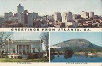 Atlanta, GEORGIA - MULTIVIEW - old skyline, cyclorama, Stone Mtn.