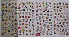 NEU 4 x 50 kleine Sticker Weihnachten Aufkleber Glitzersticker Weihnachtssticker