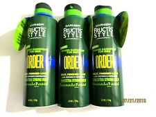 "Garnier Fructis Style ""Order"" Power Hairspray 3 Cans 6oz Each Extra Strong Hold"