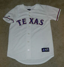Youth MAJESTIC Authentic Texas Rangers Josh Hamilton #32 STITCHED Home Jersey, L