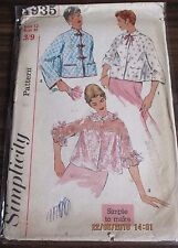 SIMPLICITY Sewing pattern no. 4935 Ladies bed Jacket size 12