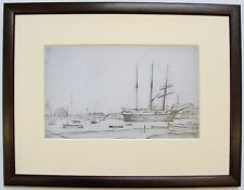 L.S Lowry RHYL HARBOUR Framed Print