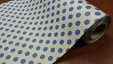 Half ream 24 inch wide Kraft with Blue Dots gift wrap 417 feet
