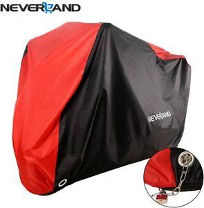 Large Waterproof Motorcycle Motorbike Cover Moped Bike Rain UV Protector Outdoor