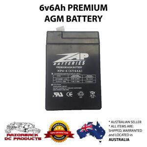 6V 5AH Battery  AGM/SLA Deep Cycle - same as 6V 4Ah, 4.5Ah, 6Ah Fast Post