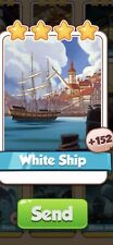 X 1 White Ship Cards from Moby Dick Set Coin Master Card ( Fast Send )