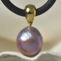 Edison Freshwater Pearl & 18K Gold Vermeil over Sterling Silver Pendant 3.22 g