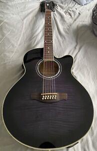 Ibanez 12 string electro acoustic guitar AEL2012E TKS