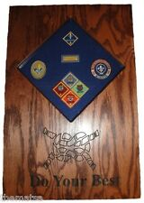 CUB SCOUT PATCHES AND  BADGES  DISPLAY CASE SHADOW BOX FREE SHIPPING