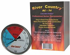 """4"""" RCT4 BBQ CHARCOAL GAS ELECTRIC GRILL SMOKER PIT THERMOMETER 3"""" STEM 50-550"""