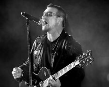 Bono - U2, 8x10 Concert B&W Photo