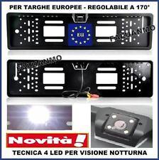 PORTATARGA TELECAMERA RETROCAMERA INFRAROSSI LED HD 170° INTEGRATA TARGA AUTO
