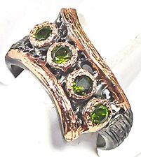 Unique Jewelry Natural Chrome Diopside 925 Sterling Silver Ring Size 8.75