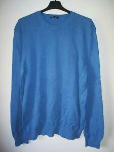 Pull Façonnable bleu en coton XXL