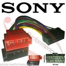 Autorradio cable adaptador de radio conector ISO 16pin para Sony mex-BT cdx-gt31u