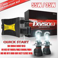 2*55W/35W HID Xenon Headlight Conversion KIT Bulbs H1 H3 H4 H7 H11 9005 9006 880