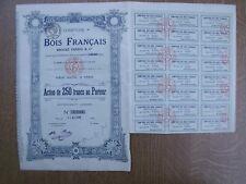 TITRE OBLIGATION  COMPTOIR DES BOIS FRANCAIS