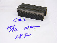 """USED (3 PCS.) LANDIS THREAD CHASERS 15/16"""" x 18 Pitch x NPT Form"""