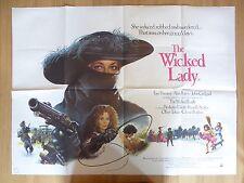 THE WICKED LADY (1983) - original UK quad film/movie poster, crime thriller