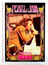 Pearl Jam Poster Rare 3 Color Untrimmed Proof Original Mint Signed Bob Masse