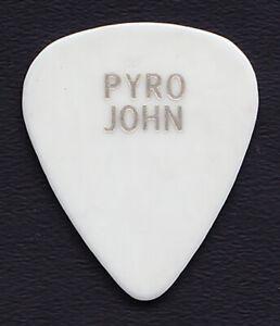 Vintage Van Halen Pyro John Watkins White/Silver Guitar Pick - 1980's Tours
