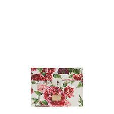 Dolce & Gabbana Kartenetui Aus Reinem Leder Mit Blumen-Print Innen Und Außen