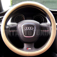BEIGE PVC LEATHER Steering Wheel Cover Mercedes w201 190 w124 E Class w210 w211