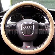 BEIGE PVC LEATHER Steering Wheel Cover Mercedes w201 190 w124 E Class w210 w211