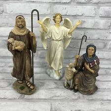 Three Kings Gifts Shepherds Angel Figures Real Life Nativity Complete Set