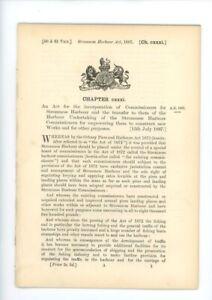 Antique Act of Parliament New Works Stromness Harbour 1897 politics document