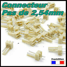 929# connecteur 2,54mm mâle ou femelle 2, 3, 4, 5, 6, 7, 8, 9 ou 10 plots