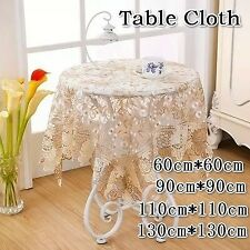 Elegant Embroider Satin Lace Round Dinning Tablecloth 150cm round 4-6 chair RED