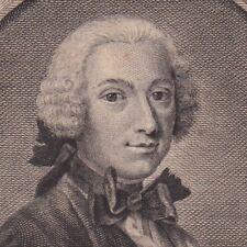Portrait XVIIIe Paul Desforges Maillard Poésie Mademoiselle Malcrais de La Vigne