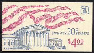 BK140A NH US Stamp Booklet Flag Over Supreme Court Plate #2