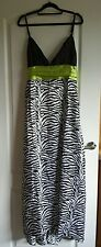 Size 14 zebra print evening prom/occasion party dress