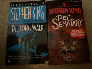 Stephen King - Two paperbacks - The Long Walk and Pet Semetary