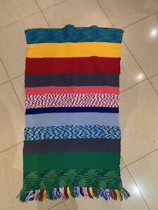 Handmade Crochet Knit Rug Blanket
