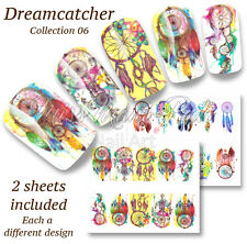Festival Full Nail Water Decals Dreamcatcher Wraps Nail Stickers BN302 Multipack