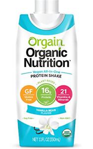 Orgain Organic Vegan Plant Based Nutritional Shake, Vanilla Bean - Meal Repla...