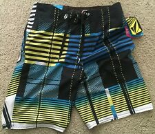 VOLCOM 4-WAY STRETCH 30-20 BOARD SHORTS NEW WITH TAGS GREAT PRINT!