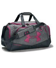Under Armour UA Storm Undeniable Duffle 2.0 Gym Bag, Medium Graphite/Gray/Pink