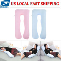 Full Body Pregnancy Pillow U-shaped Maternity Support Cushion for Nursing Women