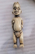 Antique Camel Bone Baule Power Figure Pendant Male Africa Ivo-y Coast 1800's