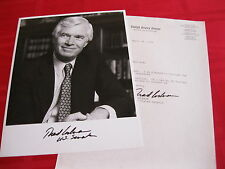 Senator Thad Cochran signed autographed 8x10 Photo with official Senate Letter