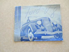 Original 1936 Ford V8 cars advertising booklet - flathead V8