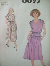 Vintage Simplicity Pattern 8893 Pullover Dress Top Skirt Cut Size 14-1/2