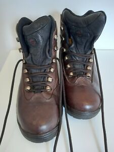 Hi-Tec Sherpa Smpatex brown leather waterproof walking boots size UK 8 EU42 VGC