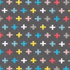 Remix Plus on Gray  Cotton Knit By the Yard Ann Kelle