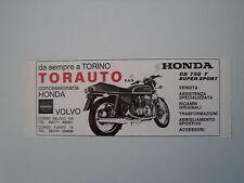 advertising Pubblicità 1977 TORAUTO e HONDA CB 750 F SUPER SPORT
